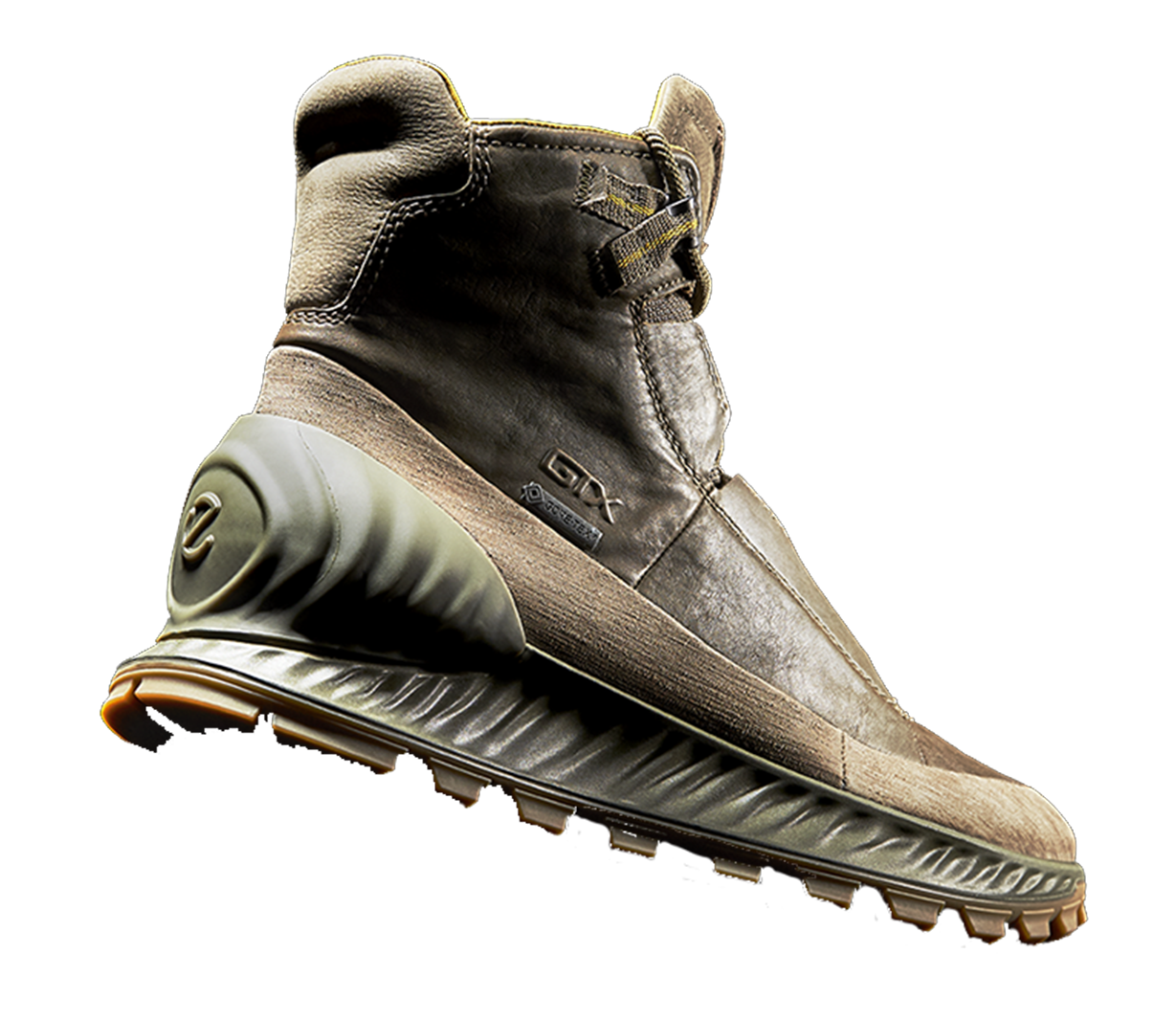 Ecco Exostrike Collection Shoes D Island Cut Engineer Low Boots Black The Heel Cup Is Not Just Adding To Modern Aesthetics Guard Wraps Providing Protective Support And A Snug Fit