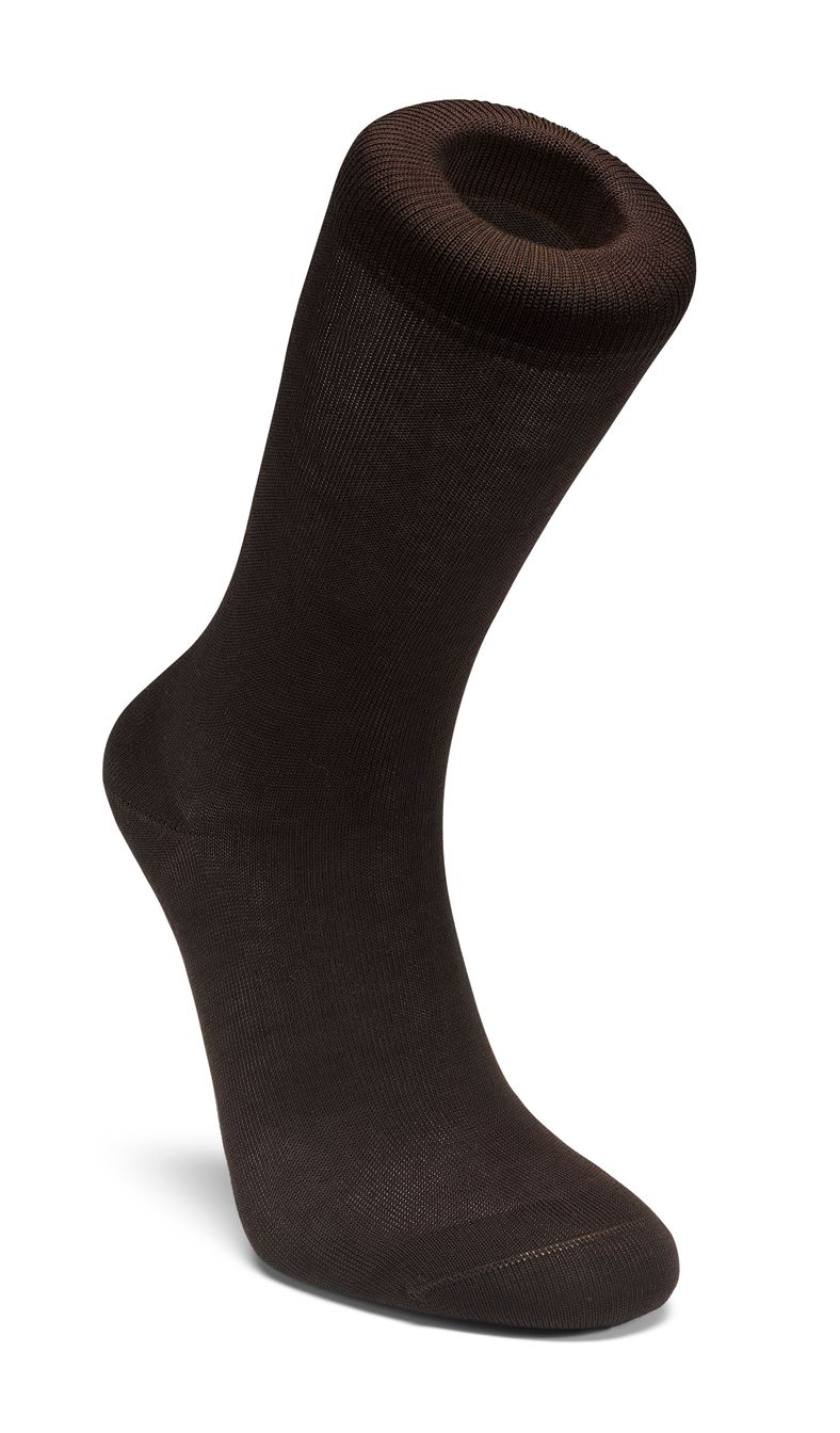 Mens Business Sock Cotton (قهوه ای)