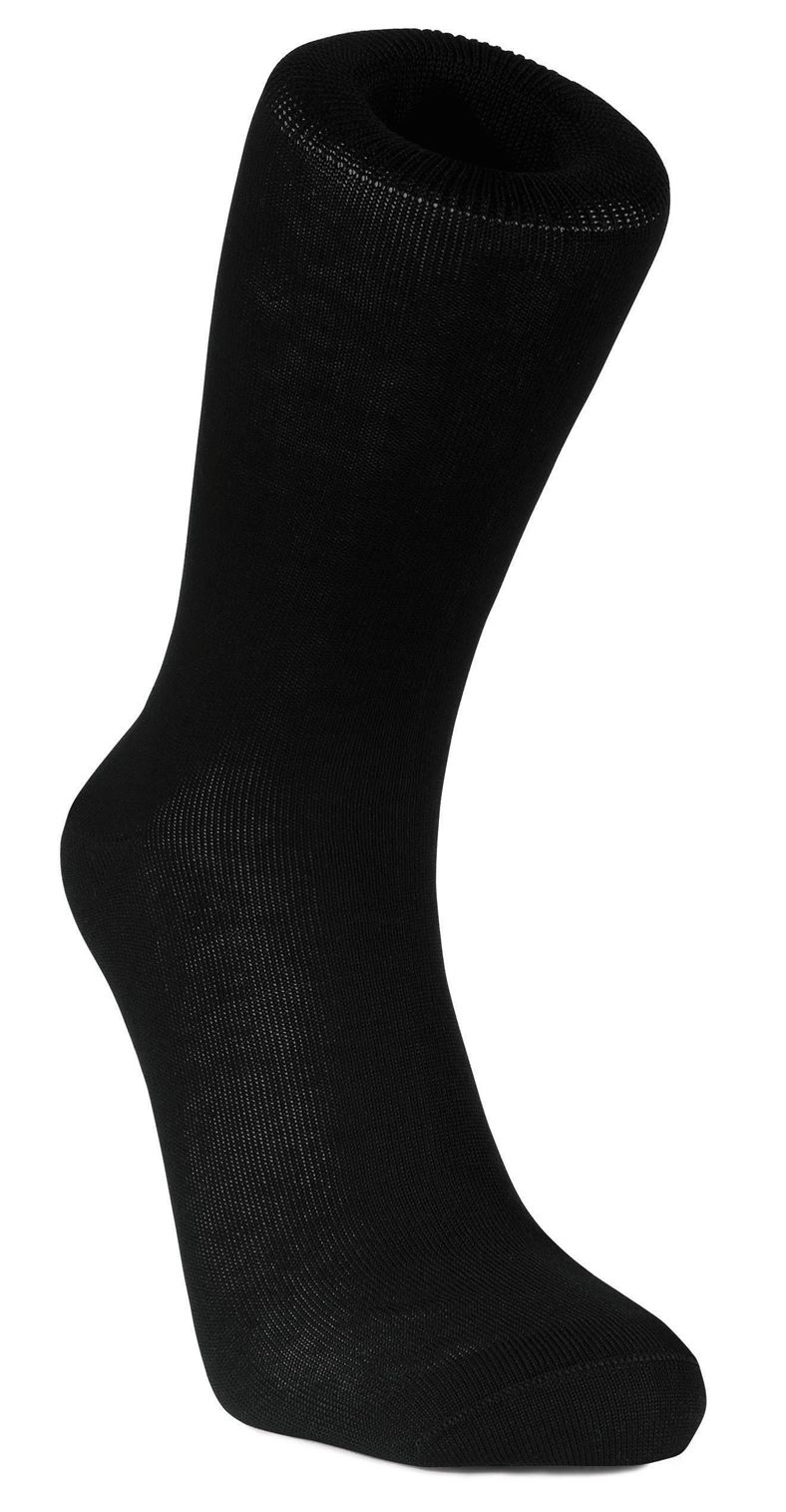 Mens Business Sock Cotton (Negro)