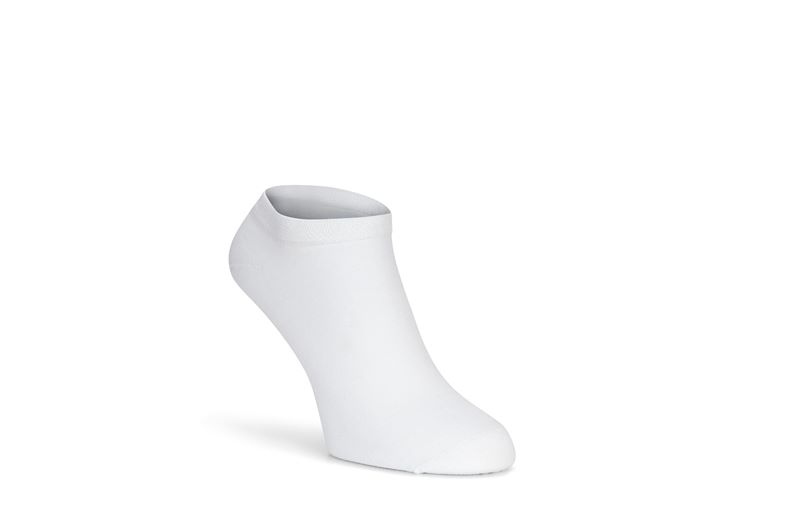 Bamboo No-Show Sock (White)
