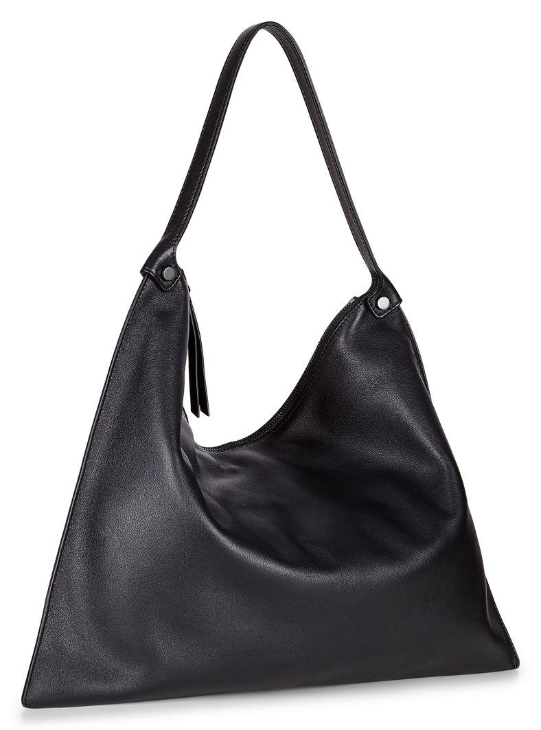 Sculptured Shoulder Bag (Black)