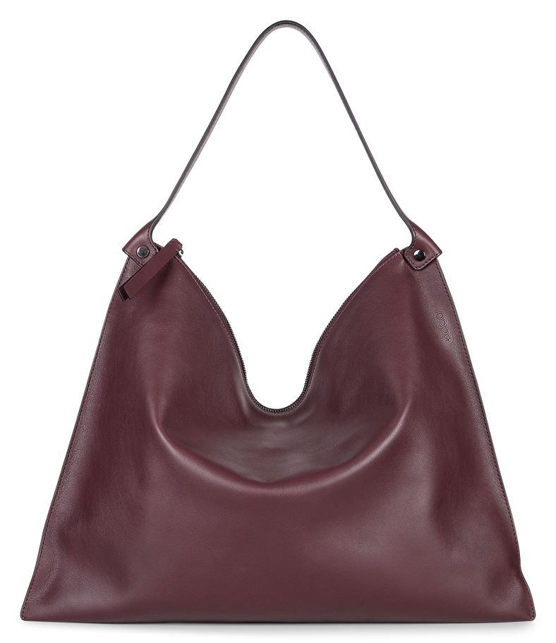 Sculptured Shoulder Bag (أحمر)