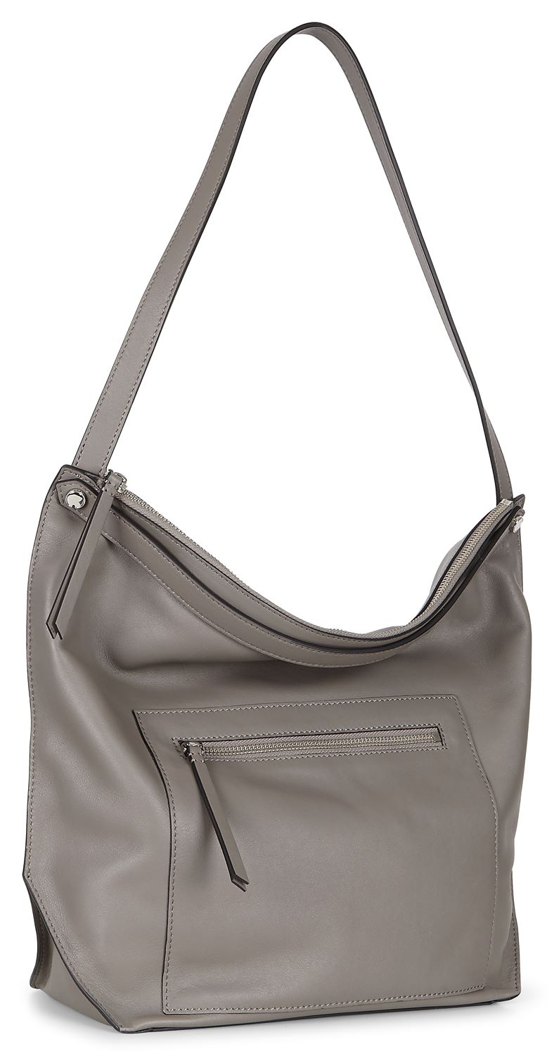Sculptured Hobo Bag (Grey)