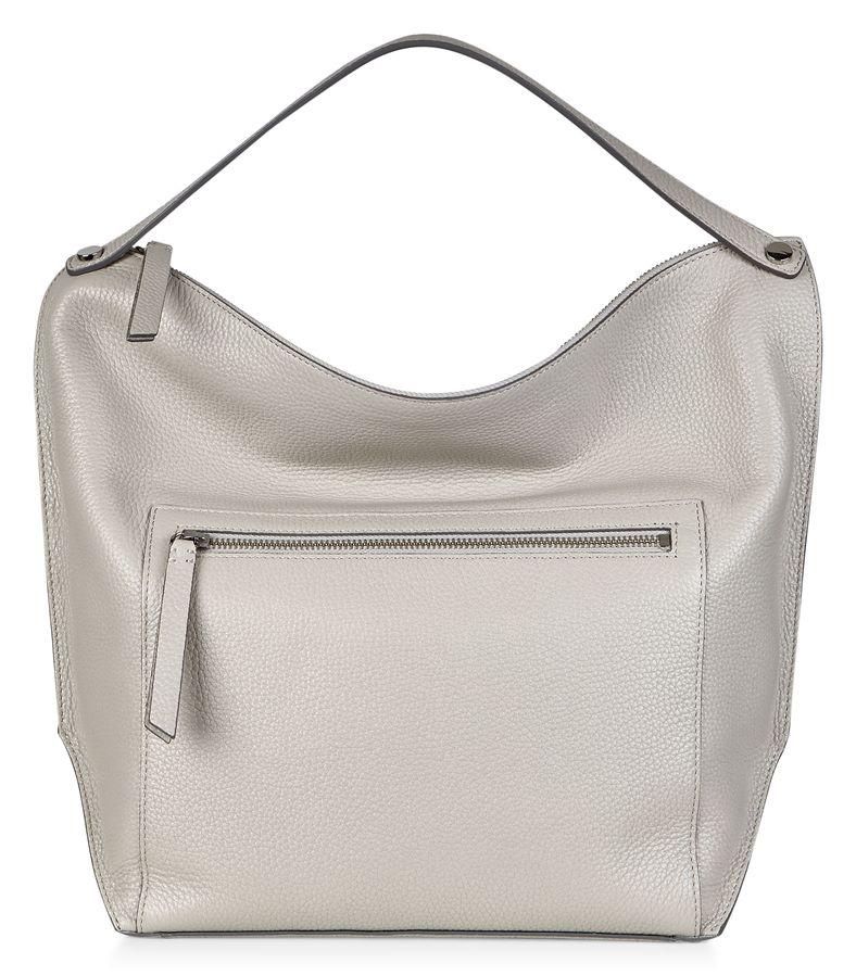 Sculptured Hobo Bag (Grey)