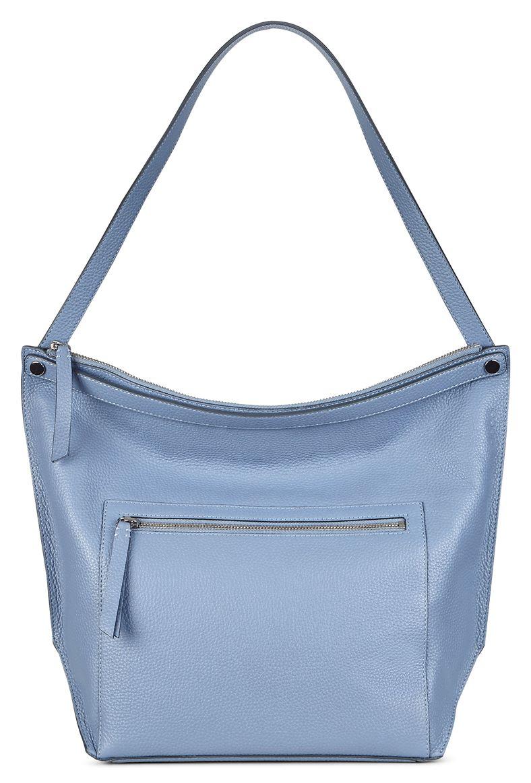 Sculptured Hobo Bag (Blue)