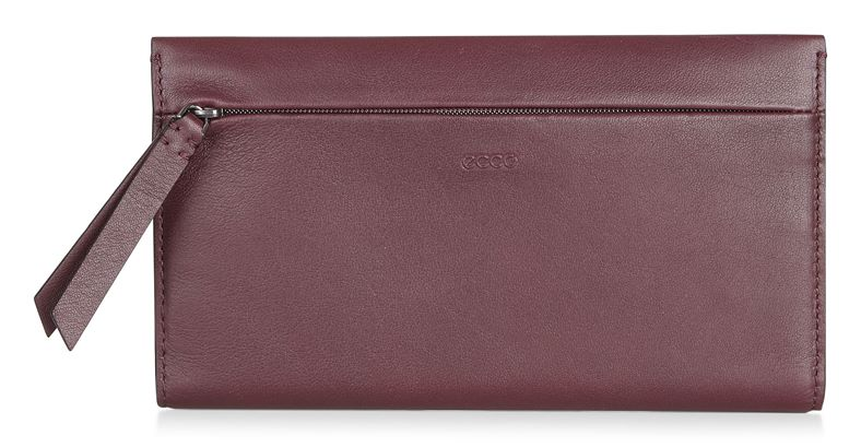 Sculptured Large Wallet (Red)