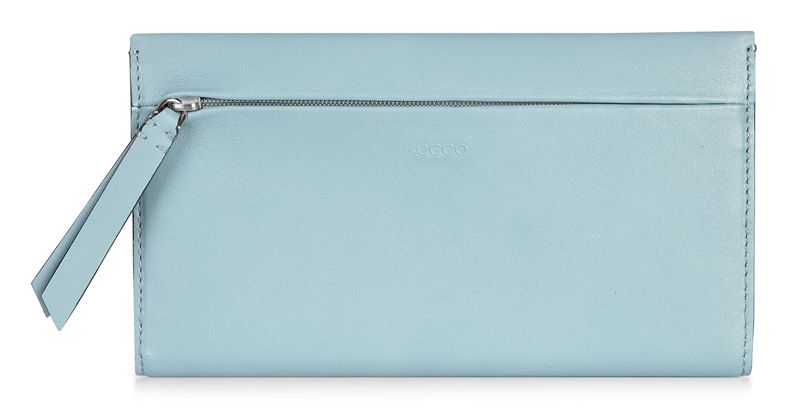 Sculptured Large Wallet (Blue)
