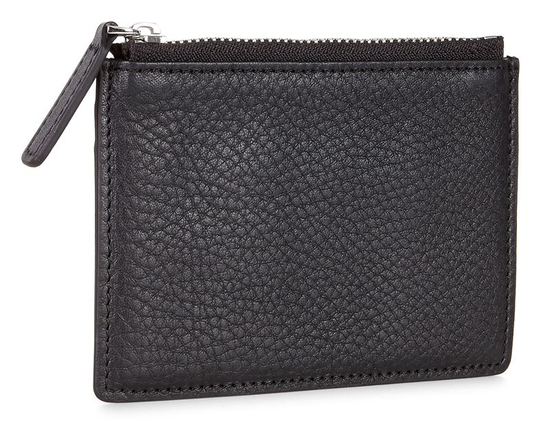 Eday L Zipped Card Case (Black)