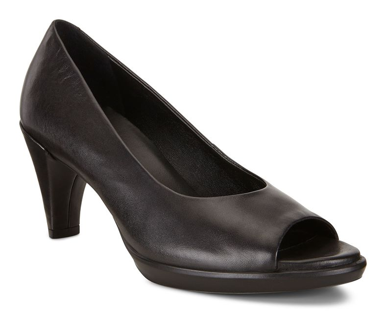 SHAPE 55 PEEP TOE SLEEK (Fekete)
