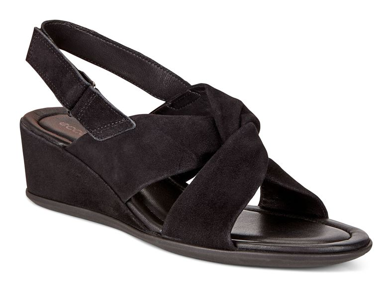 SHAPE 35 WEDGE SANDAL (Black)