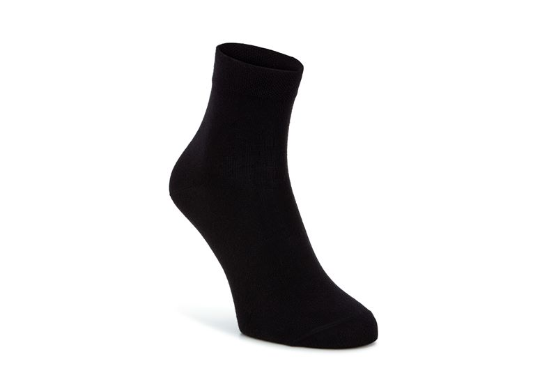 Bamboo Quarter Sock (Black)