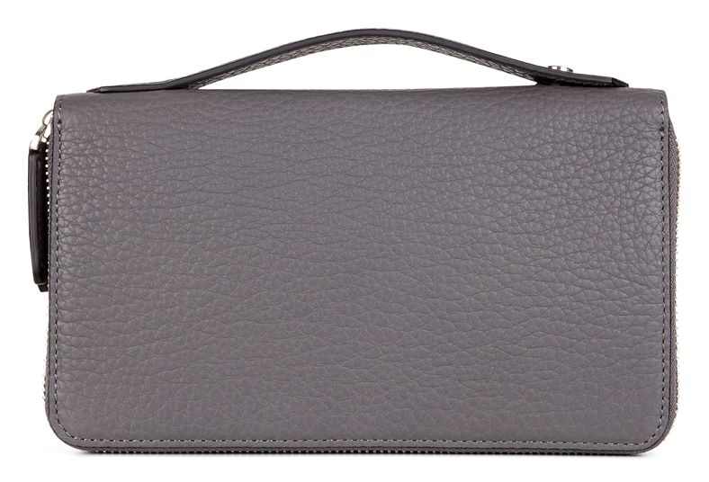 Mads Double Zip Clutch (Cinzento)
