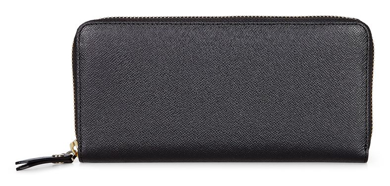 Iola Large Zip Wallet (أسود)