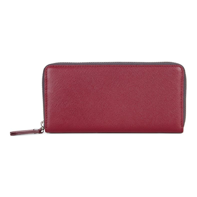 Iola Large Zip Wallet (紅色)