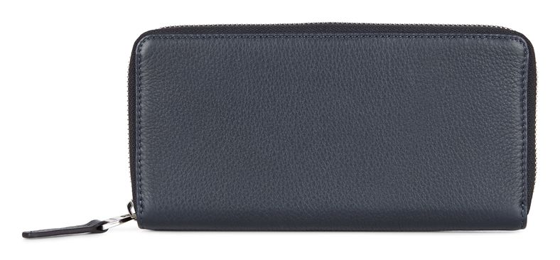 Jos Large Zip Wallet (آبی)