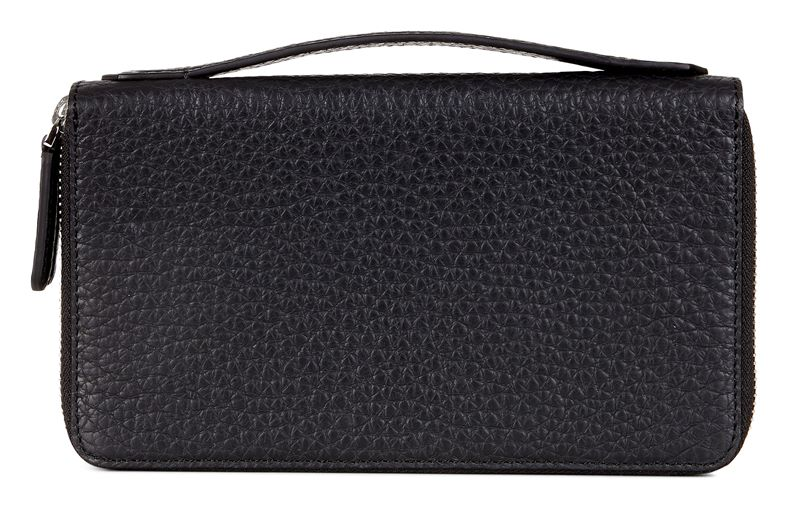 Mads Double Zip Clutch (Black)