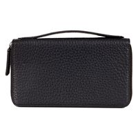 Mads Double Zip Clutch (Negro)