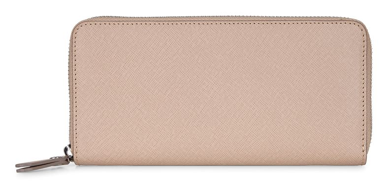 Iola Large Zip Wallet (Beige)