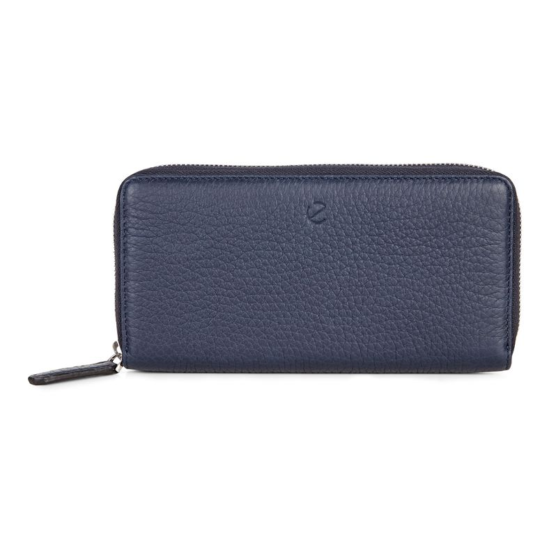 Arne RFID Large Zip Walle (Blue)