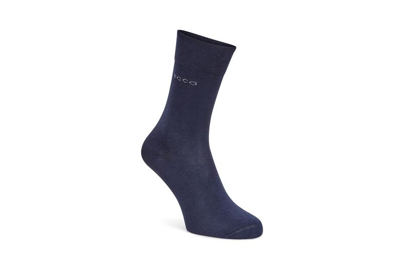 Soft Touch Crew Sock (أزرق)