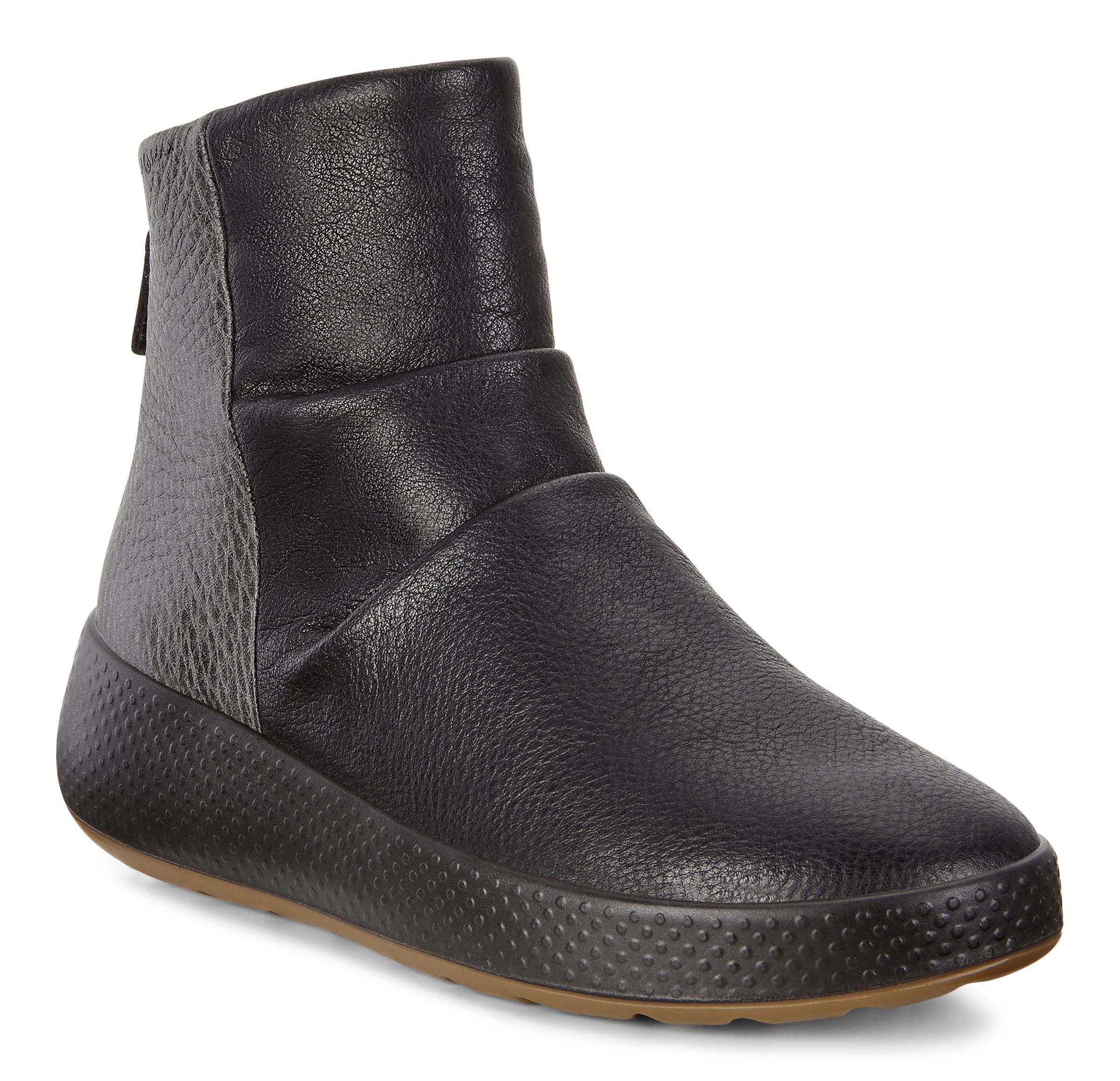 ECCO 221073 Ukiuk Shinebright Boot Ladies Casual Boots in Black