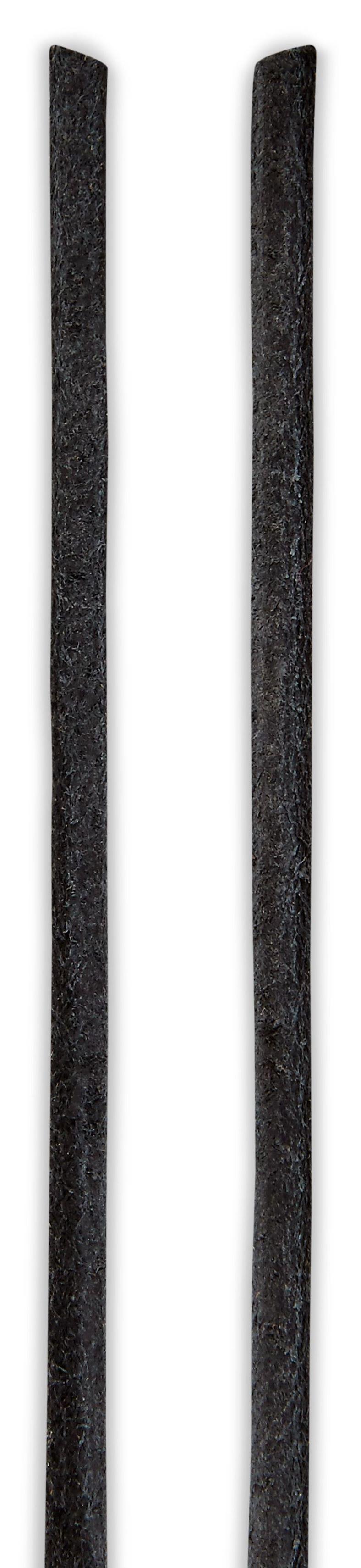 Leather Lace round (أسود)