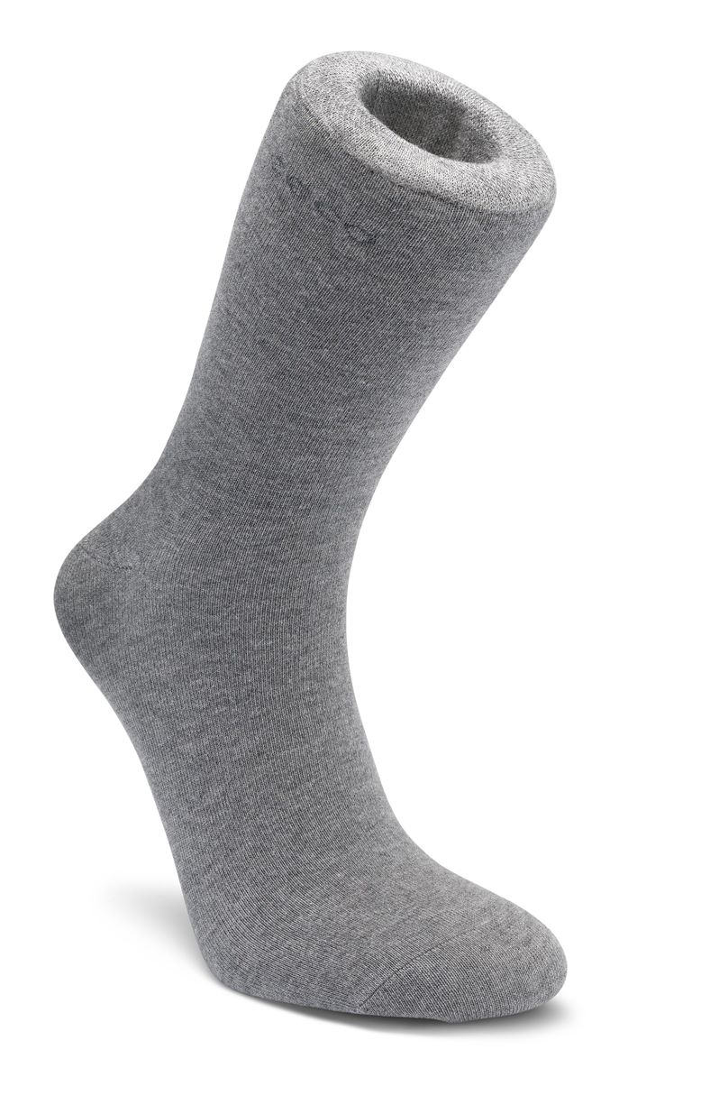 Soft Touch Crew Sock (Cinzento)