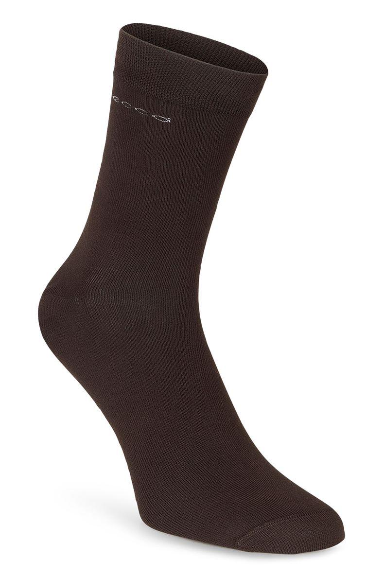 Soft Touch Crew Sock (Castanho)