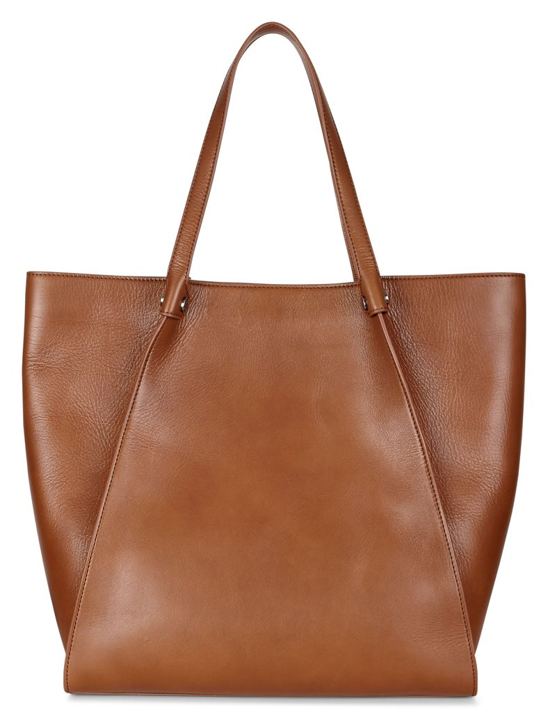 Sculptured Tote (Marrone)