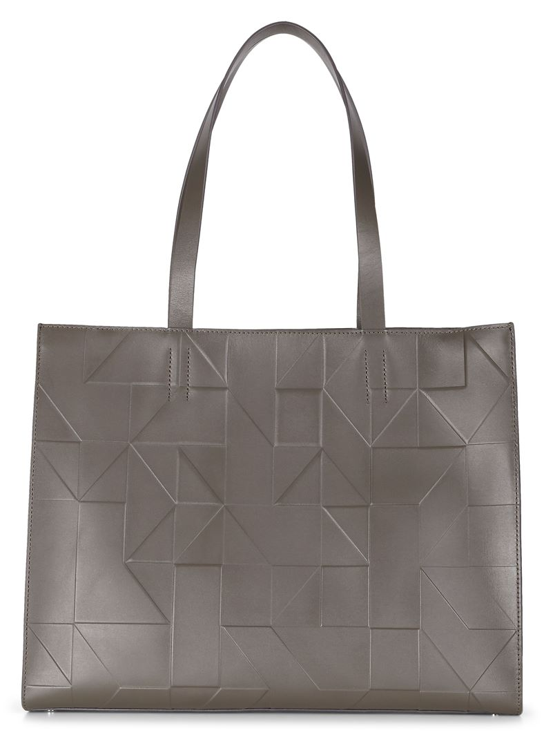 Geometrik Shopper (White)