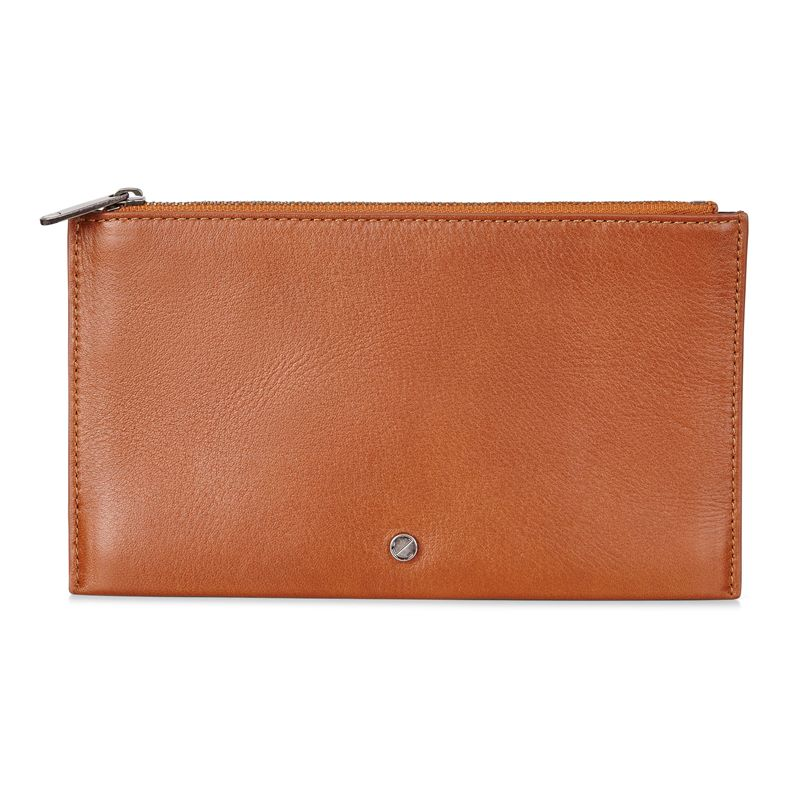 Sculptured Pouch Wallet (Marrone)