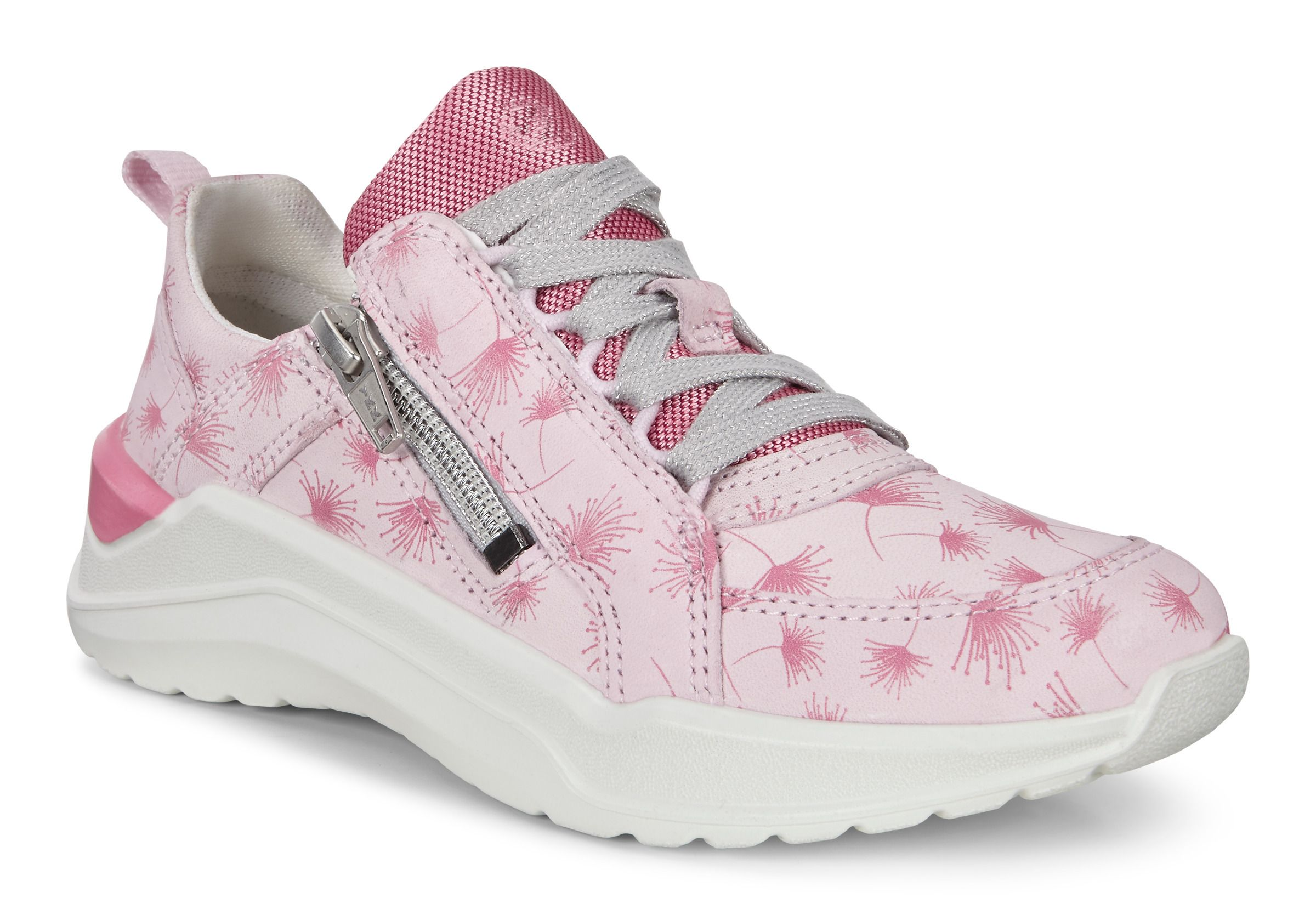 ECCO Pink Leather Sneakers