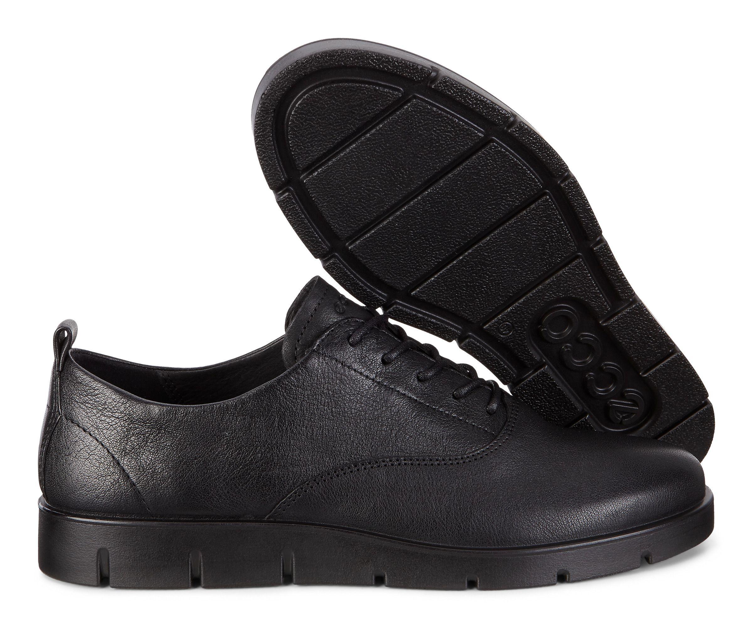 Womens Ecco Bella Flats Shoes In Black | India | (SCH1912)