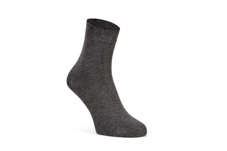 Soft Touch Quarter Sock (رمادي)