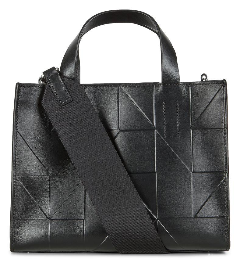 Geometrik Mini Handbag (أسود)