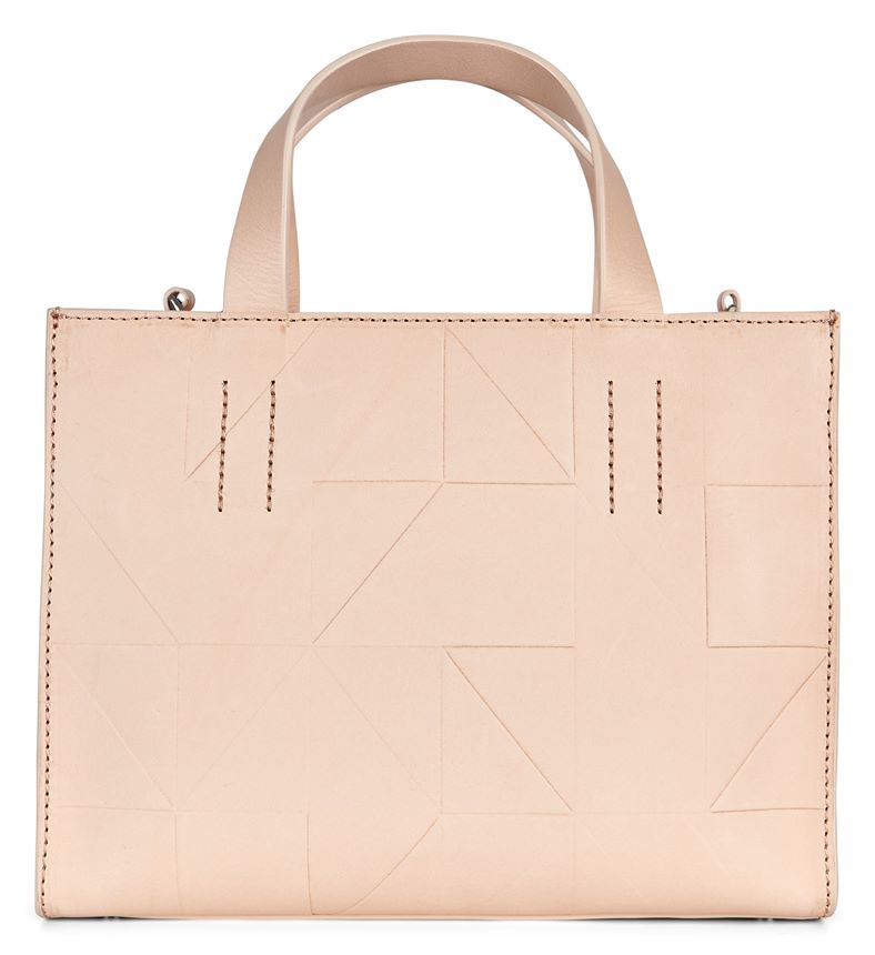 Geometrik Mini Handbag (White)