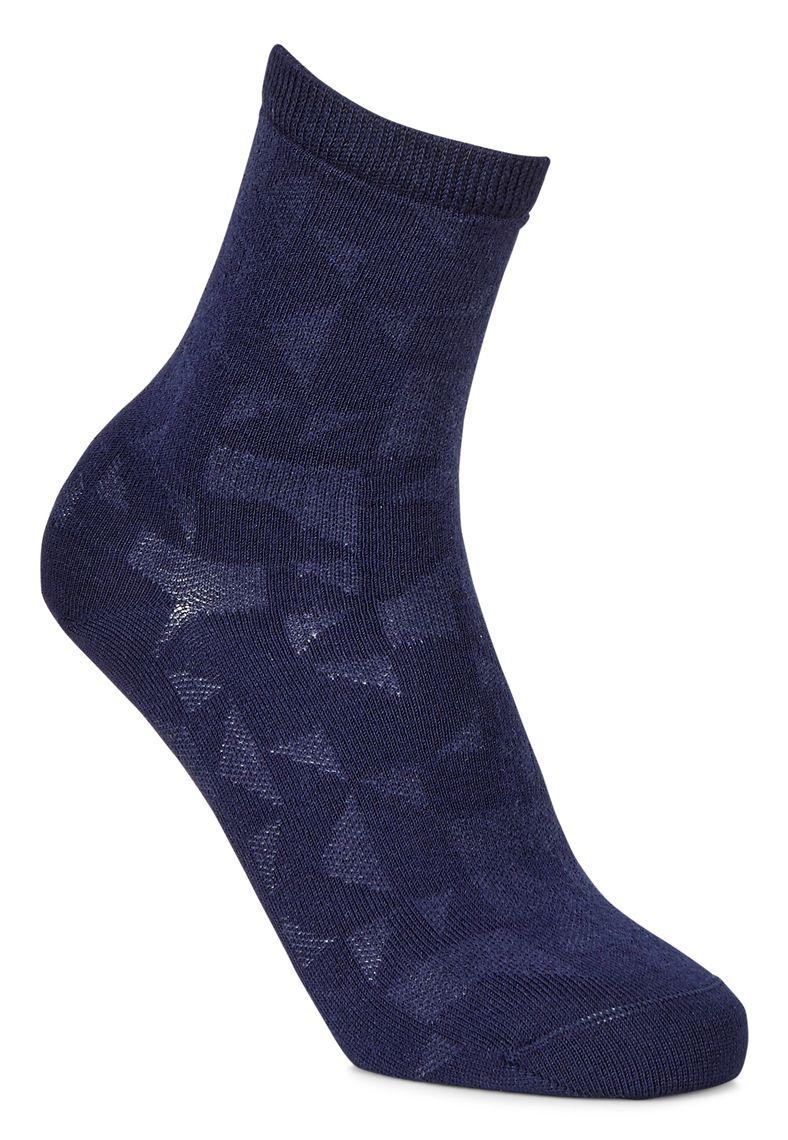Geometrik Socks (أزرق)
