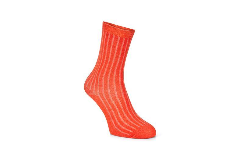 Ribbed Socks (برتقالي)