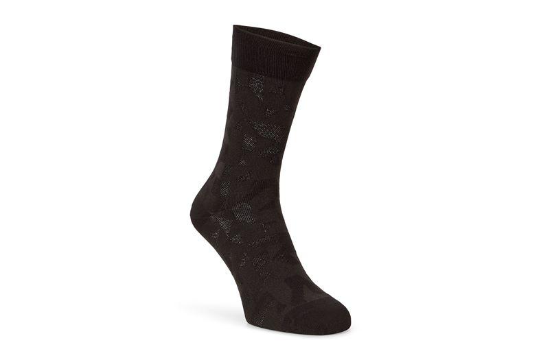 Geometrik Crew Socks (Black)