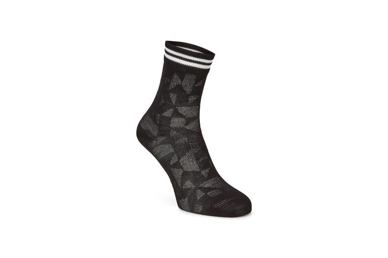 Reflective Geometrik Sock (Black)