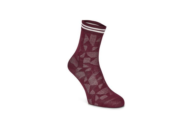 Reflective Geometrik Sock (أحمر)