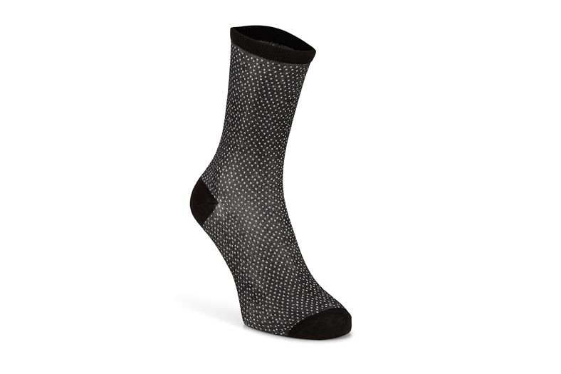 Micro Dotted Socks Women' (Negro)