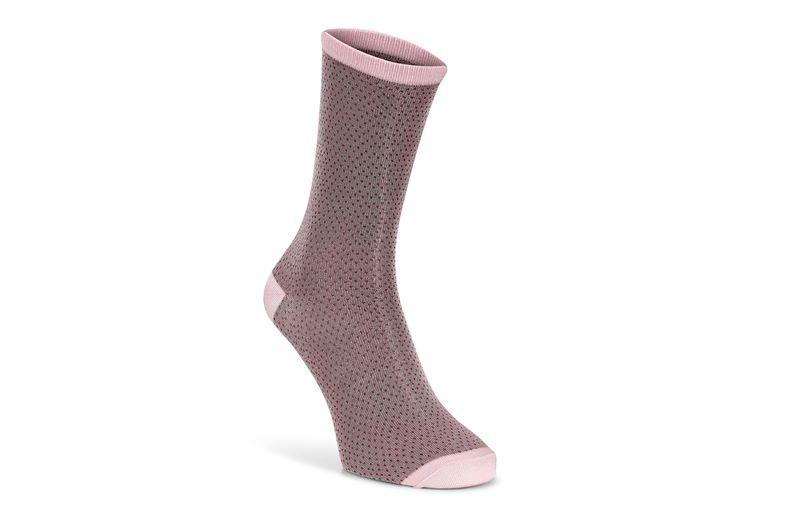 Micro Dotted Socks Women' (Rojo)