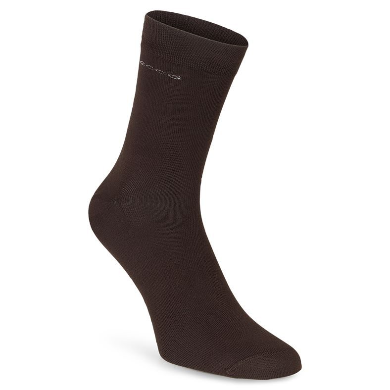 Soft Touch Crew Sock (Brown)