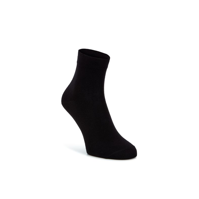 Soft Touch Quarter Sock (أسود)
