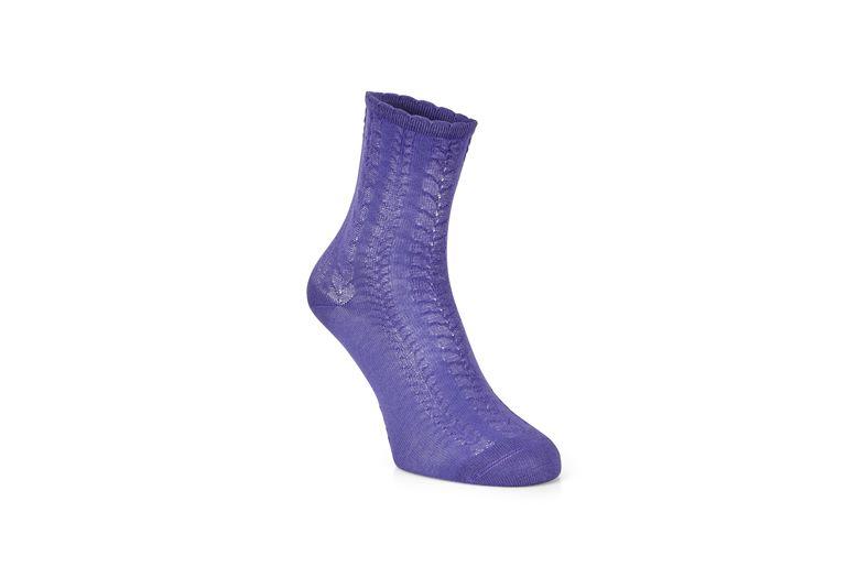 Cable Knit Socks (Purple)