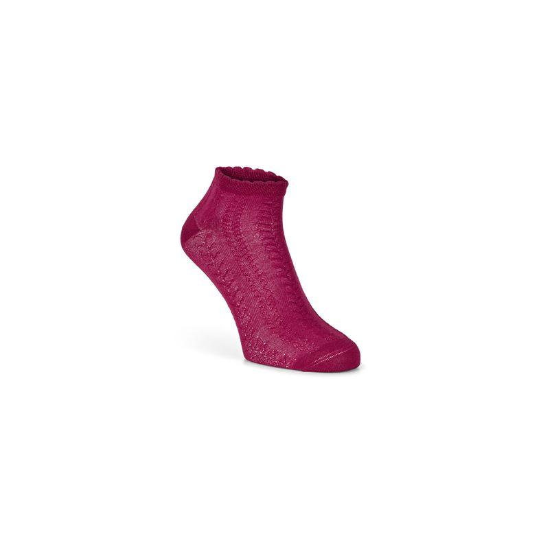 Short Cable Knit Socks (Rojo)