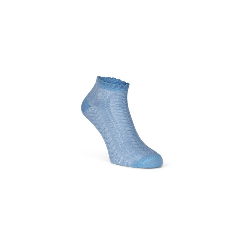 Short Cable Knit Socks (Blue)