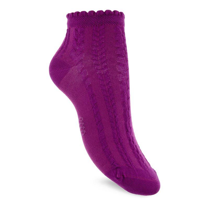 Short Cable Knit Socks (بنفسجي)