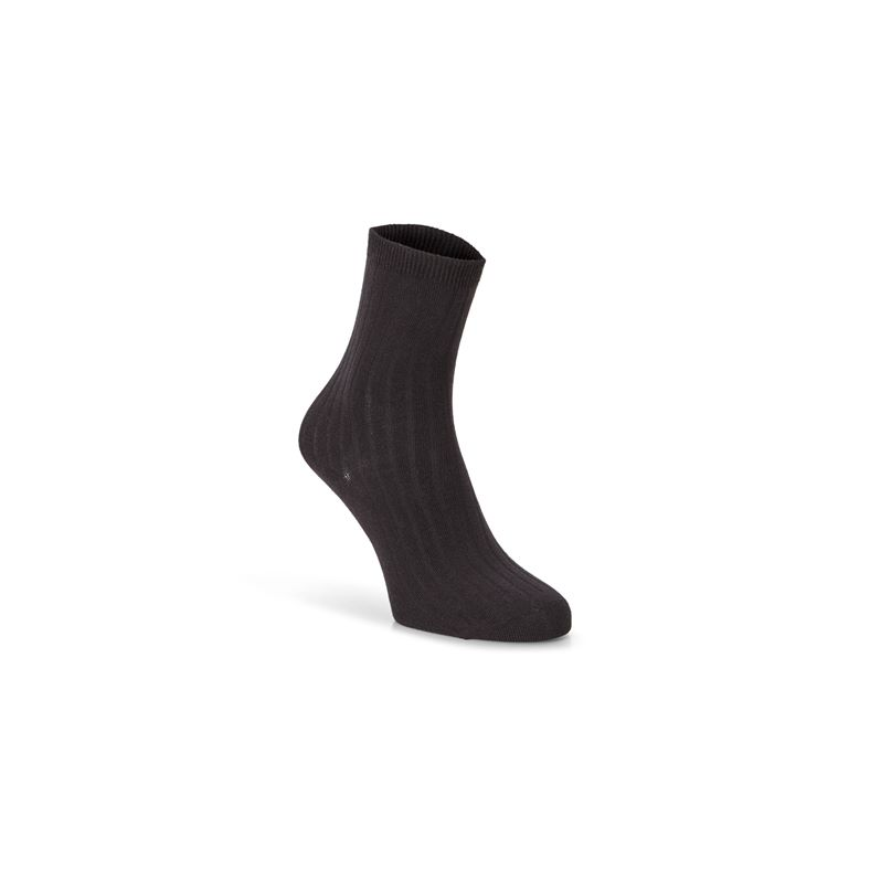 Ribbed Socks (أسود)